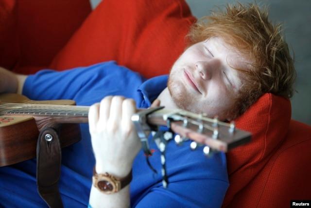 English musician Ed Sheeran poses in Los Angeles May 8, 2012.