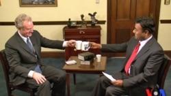 Congressman Chris Van Hollen with 'Cafe DC' host Faiz Rehman