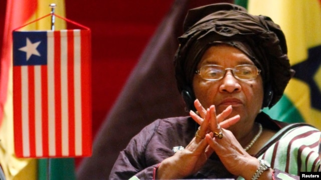 Liberia's President Ellen Johnson Sirleaf attends a West African regional bloc ECOWAS summit on the crisis in Mali and Guinea Bissau, at Fondation Felix Houphouet Boigny in Yamoussoukro, February 27, 2013.