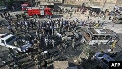 Місце вибуху замінованого автомобіля в Наджафі