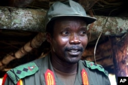 FILE - Joseph Kony, leader of the Lord's Resistance Army