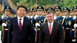 约旦国王阿卜杜拉星期三在北京会晤中国国家主席习近平