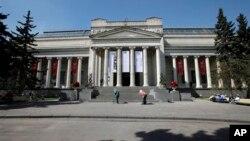 Здание музея изобразительных исскуств имени А. С. Пушкина в Москве (архивное фото)