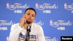 Steph Curry, battu en finale NBA 2015-2016 par Cleveland, le 19 juin 2016, Oakland, Californie. (Kelley L Cox-USA TODAY Sports)
