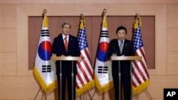 2013. Kerry is making his first-ever visit to Seoul amid