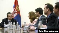 Premijer Srbije Ivica Dačić sa delegacijom Misije Medjunarodnog monetarnog fonda.