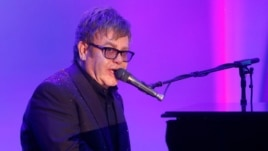 Elton John performs at the 20th Annual Race to Erase MS Event