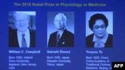 Ba khoa học gia Ireland, Nhật, Trung Quốc đoạt giải Nobel Y học 2015.