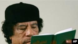 Shugaban Libya Moammar Gadhafi.