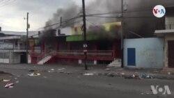 Ayiti: Manifestan an Kolè Mete Dife nan Kèk Biznis Prive sou Wout Delmas