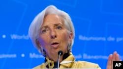 Christine Lagarde, directora gerente del Fondo Monetario Internacional, se reúne con ministro de Hacienda argentino Nicolás Dujovne para determinar las condiciones de un préstamo de rescate para la nación sudamericana.
