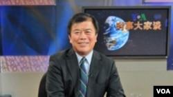 吴振伟议员参加诺奖典礼后接受美国之音电视采访(美国之音方远拍摄)