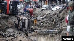 台灣第二大城市高雄上週燃氣爆炸已造成28人死亡。