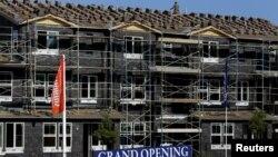 Proyek pembangunan rumah di San Marcos, California (foto: dok). Pasar perumahan Amerika terus pulih.