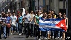 Los disidentes cubanos han protestado en las calles de La Habana pidiendo la liberación de los presos políticos.