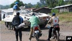 Un char onusien près de Goma, le 21 mai 2013