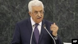 Mahmoud Abbas, President of the Palestinian Authority, speaks during the general debate of the 68th session of the United Nations General Assembly, at U.N. headquarters in New York, Sept. 26, 2013.