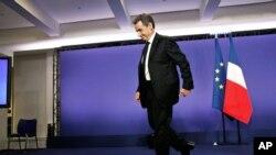Expresidente francés Nicolas Sarkozy.