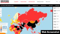 2016年世界新闻自由指数:中国排名176