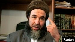FILE - Madani Mezrag, former chief of the armed wing of the now-defunct Islamic Salvation Front (FIS), speaks in an interview with Reuters in Algiers, Algeria, March 18, 2009.