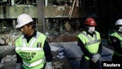 폭발 사고가 있은 후 1일 멕시코 국영 석유회사 페멕스 본사 건물.