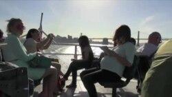 Жители Сан-Франциско выбирают паромы