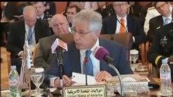 هيگل: مذاکرات هسته ای امنیت منطقه را تضعیف نمی کند