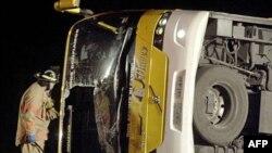 Авария автобуса на шоссе номер 59 к югу от города Виктория в штате Техас (архивное фото)