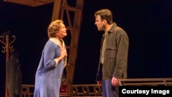"Tony Award winner Cherry Jones and Zachary Quinto star in ""The Glass Menagerie."" (Photo by Michael J. Lutch)"