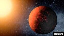 Umetnički prikaz planete Kepler-20e,prve planete slične zemlji pronađene van sunčevog sistema