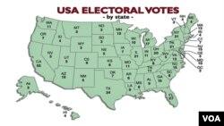 Setiap negara bagian mempunyai sejumlah electoral votes atau anggota dewan pemilih, di mana di seluruh AS ada 538 suara dewan pemilih.