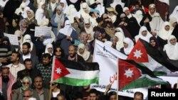 اردن میں حزب مخالف کا مظاہرہ