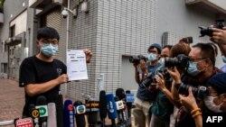 ဒီမိုကေရစီေရးတက္ႂကြလႈပ္ရွားသူ Joshua Wong ကို ၾကာသပေတးေန႔က ဖမ္းဆီး