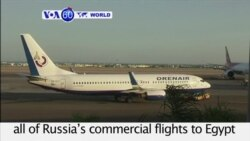 VOA60 World - Putin Halts Russian Flights to Egypt