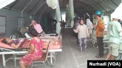 Penanganan pasien korban gempa di RSUD Kota Mataram dalam gempa Lombok 2018. (Foto:Terkini.com/Nurhadi)