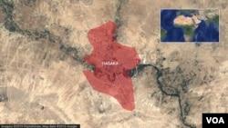 Bản đồ vùng Hasaka, Syria.