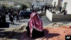 A relative of slain Jordanian pilot, Lt. Muath al-Kaseasbeh attends the Kaseasbeh tribe gathering divan at their home village of Ai, near Karak, Jordan, Feb. 4, 2015.