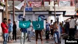 بھارتی کشمیر میں مظاہرہ(فائل)