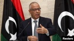 Thủ tướng Libya Ali Zidan trong cuộc họp báo tại Tripoli, ngày 8/3/2014.