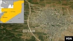 ພວກຕໍ່ຕ້ານລັດຖະບານ ພາກັນສູ້ລົບ ຮັກສາບໍ່ໃຫ້ເມືອງ Qusair ແຕກ ເພື່ອປ້ອງກັນເສັ້ນທາງຂົນສົ່ງຂອງຕົນ ໄປສູ່ Lebanon.