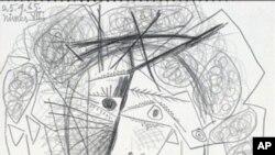 """毕加索素描""""女人头像"""""""