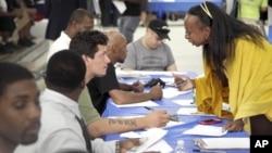 지난 8월 미국 뉴욕에서 열린 취업박람회. (자료 사진)