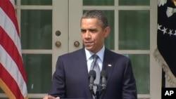 奧巴馬9月19日在白宮玫瑰園宣佈減赤計劃