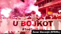 Srbija - 44. protest u Beogradu. 5. oktobar 2019, (Foto: RFE)