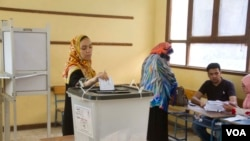 开罗一个投票站(2014年5月27日)