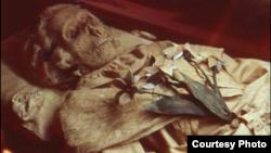 Mummified remains of Terézia Hausmann. (Hungarian Natural History Museum)
