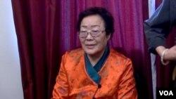 慰安妇幸存者李龙秀 (美国之音杨晨拍摄)