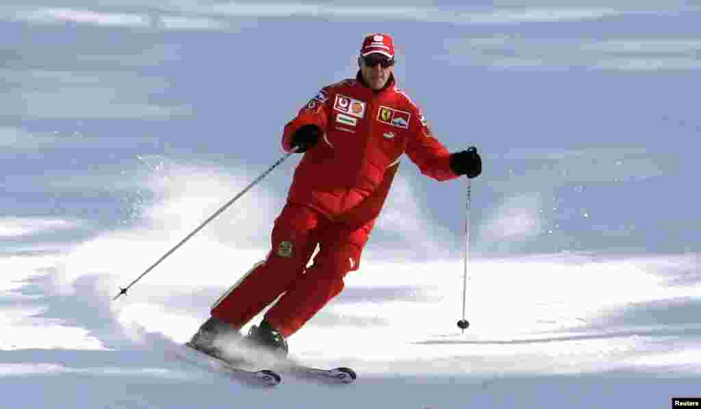 Шумахер на лижах. 2006-й рік.