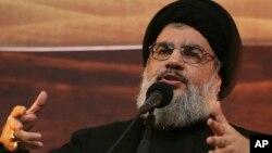 Hassan Nasrallah, pemimpin kelompok militan Hizbullah-Lebanon(foto: dok).