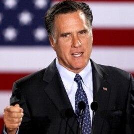 Republican presidential candidate, former Massachusetts Gov. Mitt Romney (file photo)